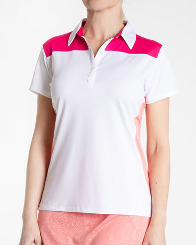 COLLETTE Short Sleeve Colorblock Polo - Multi