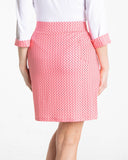 BELLE Print Skirt w/Pleats - Rouge