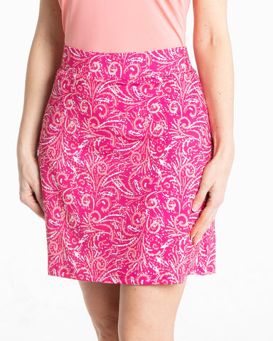 CANCAN Pull On Print Skirt - Lipstick