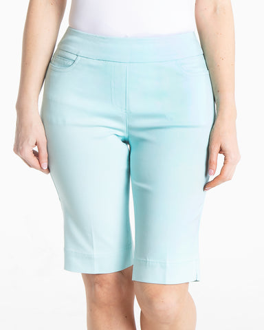 Pull On Solid Golf Walking Short - Blue Mist