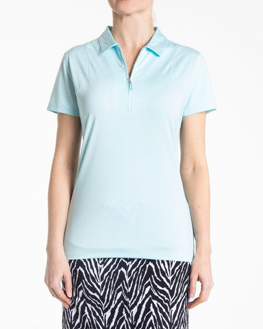ARIA Short Sleeve Polo - Blue Mist