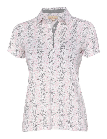 Grace Short Sleeve Print Polo