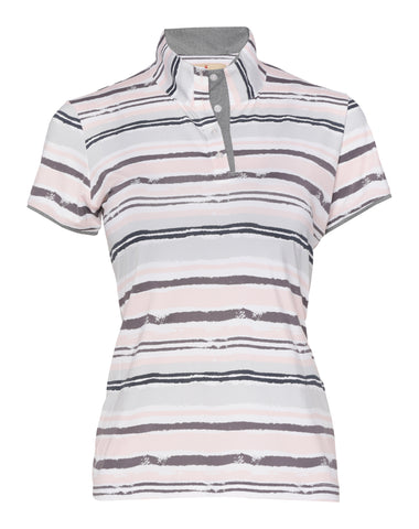 Delilah Short Sleeve Print Polo