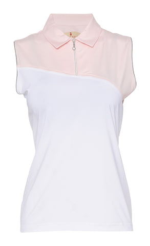 Sophia Sleeveless Colorblock Polo