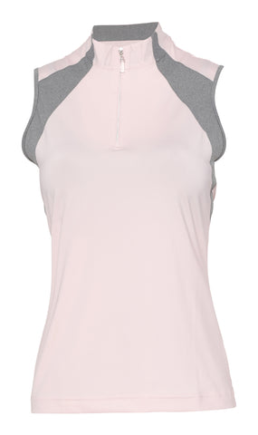 Noelle Sleeveless Colorblock Polo