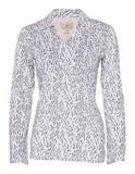 Danica Long Sleeve Print Polo