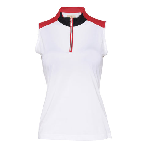 Eva Sleeveless Polo
