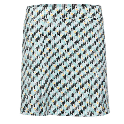 Pull On Print Skirt - Sea Glass