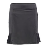 Pull On Skirt With Flare - Charcoal