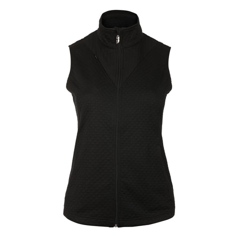 Q Full Zip Quilted Vest With Mock Collar and Zip Pockets