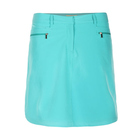 Hally Solid Skirt With Zip Pockets and Liner