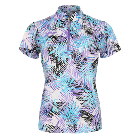 "Carmen ""Haley Cool"" Short Sleeve Print Polo"