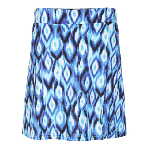 "Lala ""Haley Cool"" Pull On Flare Print Skirt"