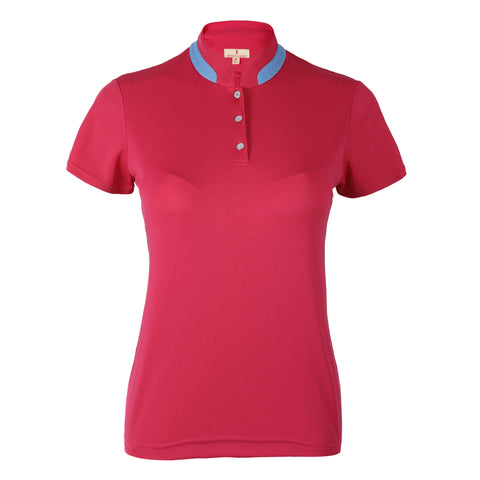 Crystal Solid Short Sleeve Polo
