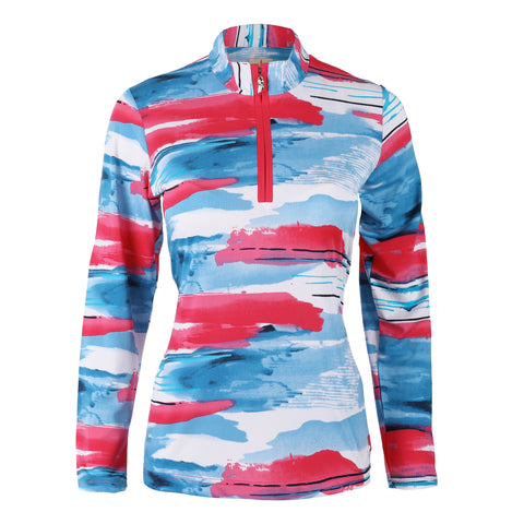 "Horizon ""Haley Cool"" Long Sleeve Print Polo"