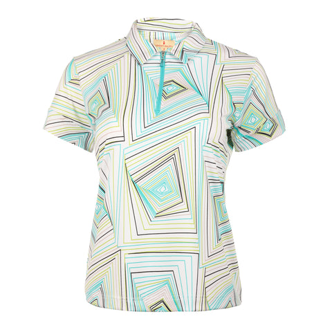 "Echo ""Haley Tech"" Short Sleeve Print Polo"