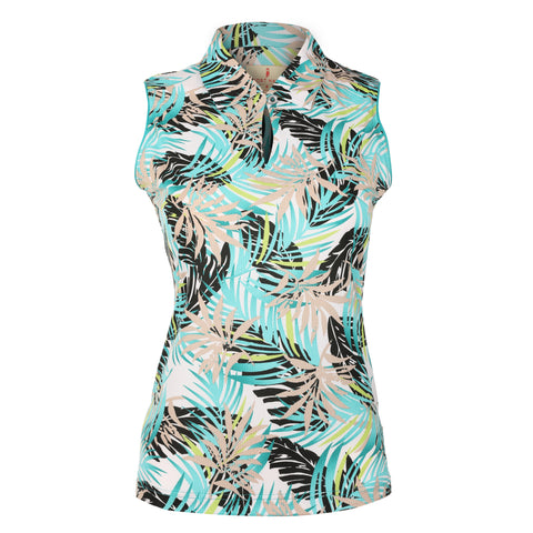 "Halah ""Haley Cool"" Sleeveless Print Polo"