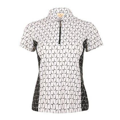 Block Short Sleeve Print Polo