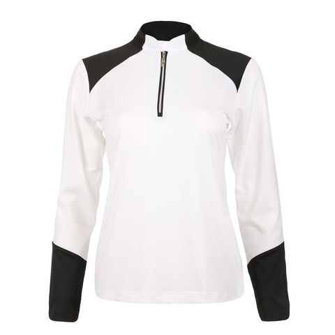"Desi ""Haley Tech"" Long Sleeve Colorblock Polo"