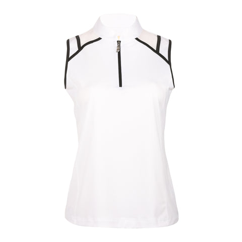 "Gia ""Haley Tech"" Sleeveless Solid Polo"