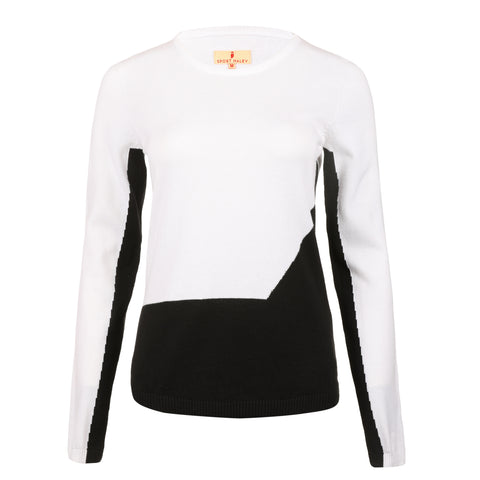 Archie Crewneck Colorblock Sweater