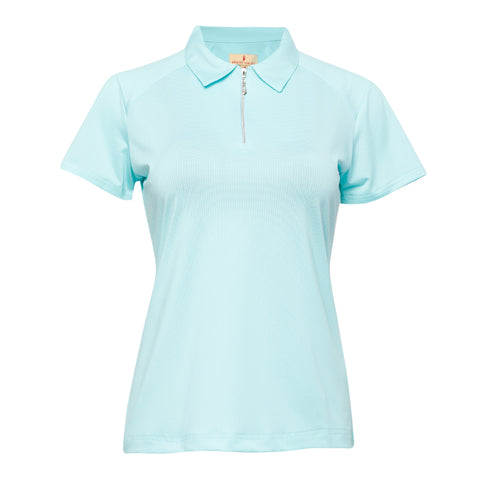 Lulu S/S Polo - Sea Glass