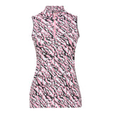 Elisa Sleeveless Print Polo