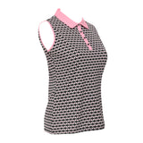 Farah Sleeveless Print Polo
