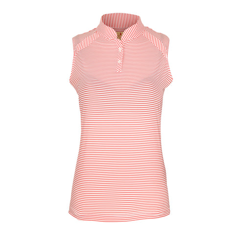 Zinny Sleeveless Striped Polo