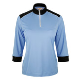 "Addison ""Haley Tech"" 3/4 Sleeve Solid Polo"