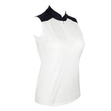 "Alexa ""Haley Cool"" Sleeveless Solid Polo"