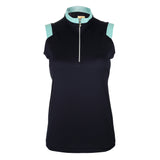 "Abby ""Haley Tech"" Sleeveless Solid Polo"