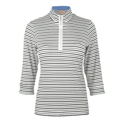 Stanford 3/4 Sleeve Striped Polo