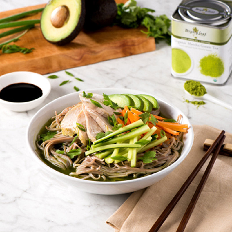 Matcha Noodle Bowl with Chicken