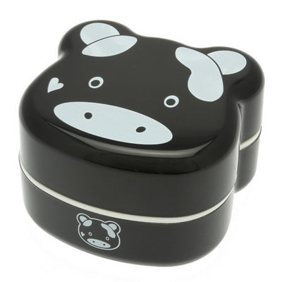Bento Black Cow Face with 2-tiers