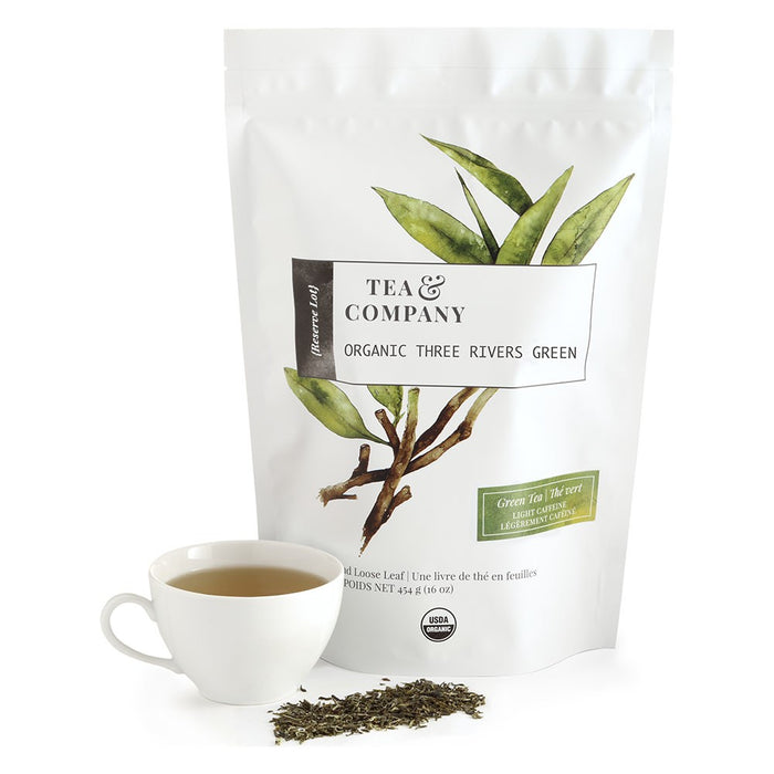 Organic Three Rivers Green 4oz. Loose Leaf Tea