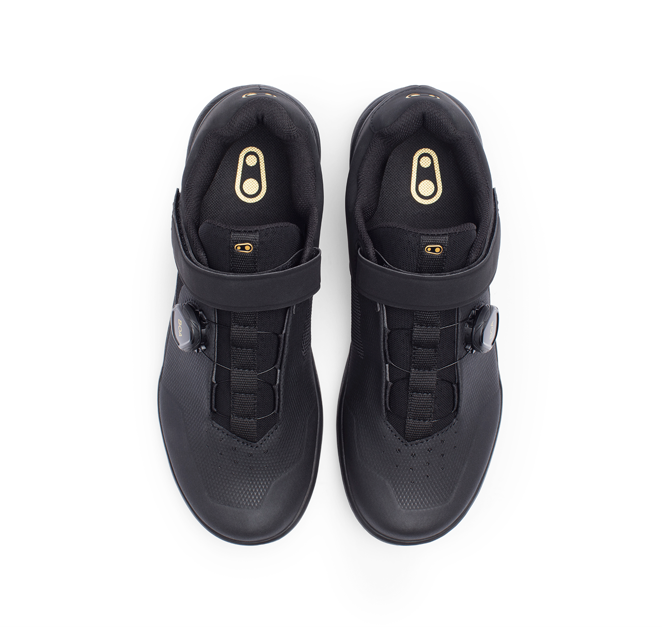 Crank Brothers Mountain Shoes STAMP BOA BLACK//GOLD//BLACK 9.0