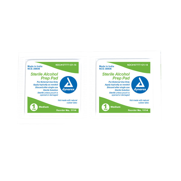 Dynarex Alcohol Prep Pads (Box of 100)