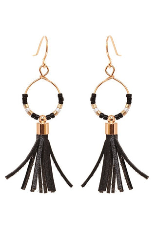 Beaded Hoop Tassels