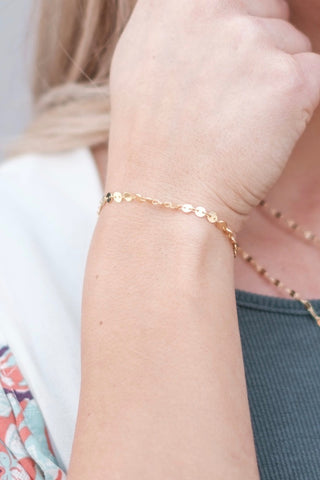 Mini Coin Adjustable Bracelet