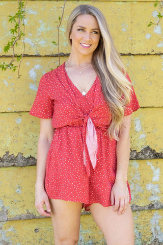 Red Polka Dot Romper