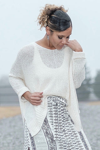 Ivory Slouchy Sweater