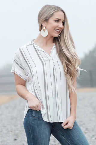 Vacay Vibes Striped Blouse