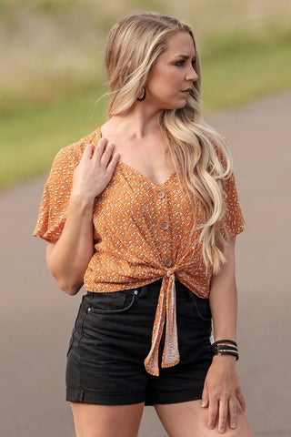Clementine Tie Blouse