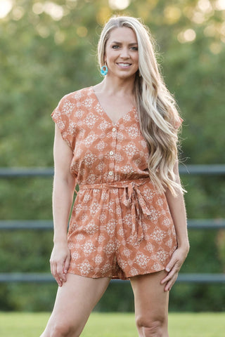 Carmel Button Down Romper