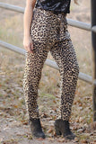 Leopard Paper Bag Trousers