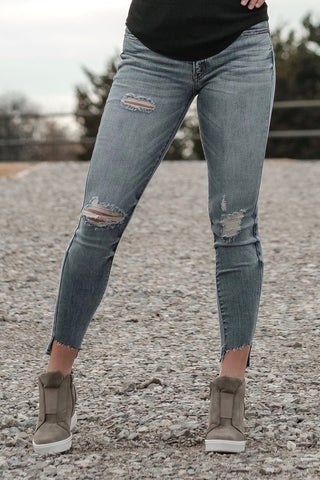 Damaged Hi-low Skinnys