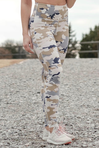 Pastel Striped Camo Leggings