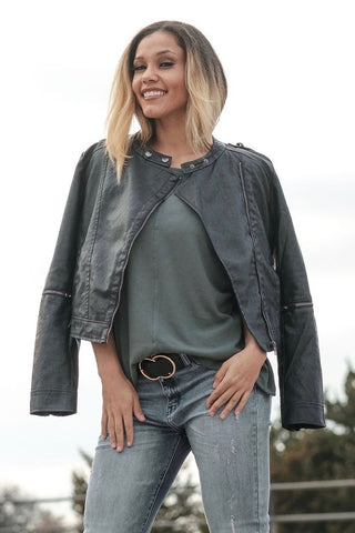 Stella Faux Leather Moto Jacket