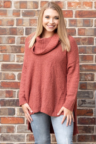 Oversized Rusty Red Sweater